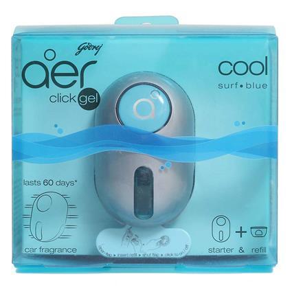 Click Car Freshener AC Vent - Cool Surf Blue - Godrej Aer