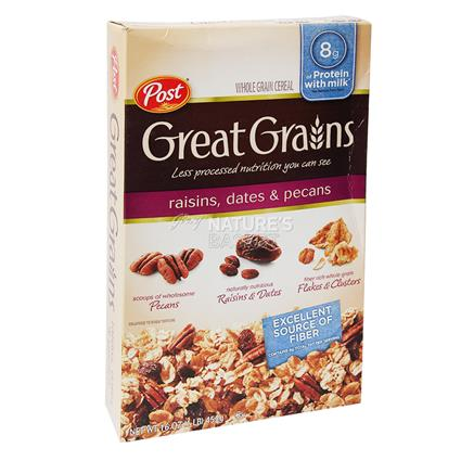 Whole Grain Cereal W/ Raisin, Date And Pecan - Post