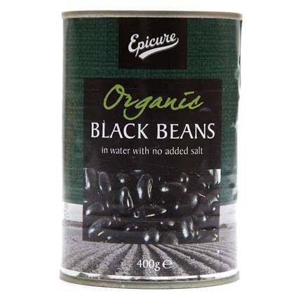 Organic Black Beans In Water  -  No Added Salt - Epicure