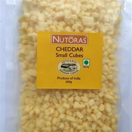 NUTORAS CHEDDAR CHEESE SMALL CUBES 200GM