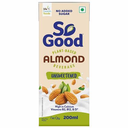 So Good Almond Milk  Unsweetened  200 ml