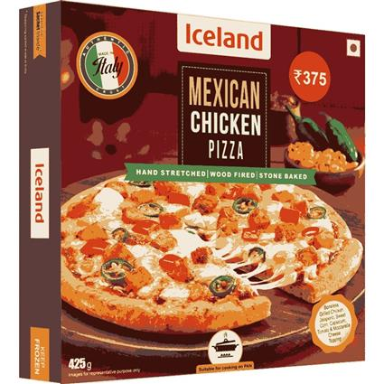 ICELAND MEXICAN CHICKEN PIZZA 425GM
