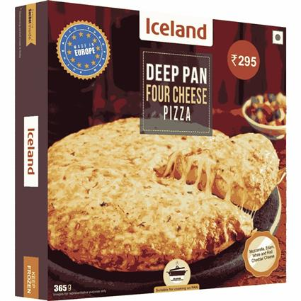 ICELAND FOUR CHEESE DEEP PIZZA 365&408G