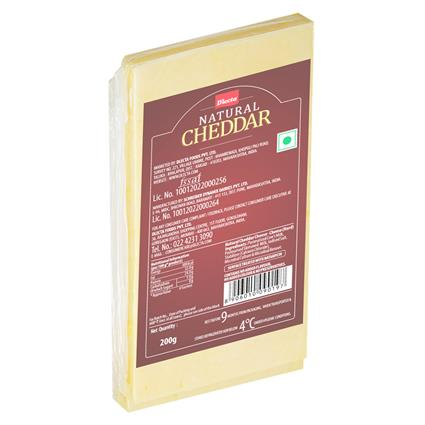 DLECTA NATURAL CHEDDAR CHEESE 200G