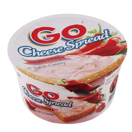 GO CHEESE SPREAD SMOKED PAPRIKA 200G