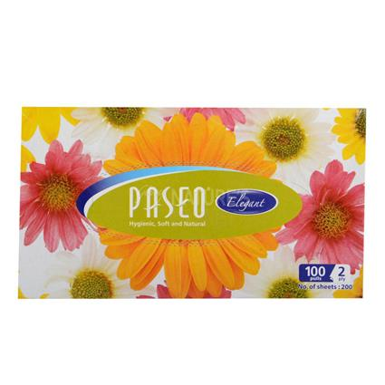 Elegant Facial Box Tissues  -  2 Ply Pack Of 100 Pull - Paseo