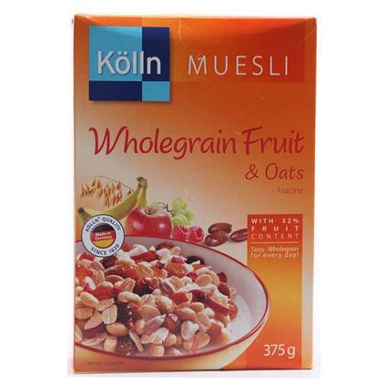KOLLN WHOLEGRAIN FRUIT OATS MUESLI 375G