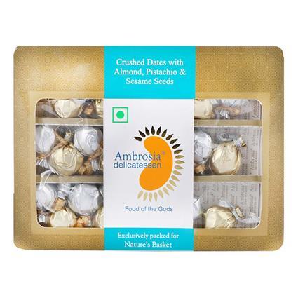 Dates W/ Almond, Pistachio & Sesame Seeds - Ambrosia