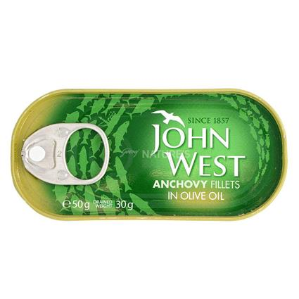 JOHN WEST ANCHOVIES FILLETS 50G