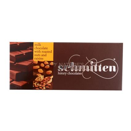 Milk Chocolate With Roasted Nuts And Raisins - Schmitten