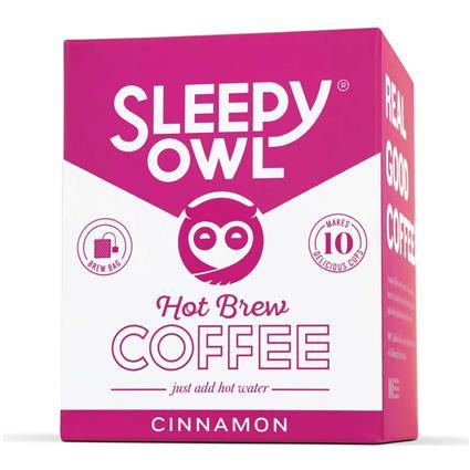 Sleepy Owl Hot Brew Coffe Bag, Cinnamon, Set of 10