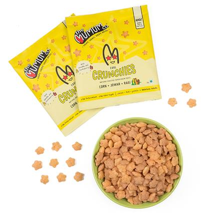 Healthy Supergrain Roasted Puff Snacks, Strawberry-Banana Crunchies - The Mumum Co.