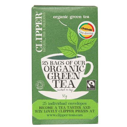 CLIPPER ORGANIC GREEN TEA 2GX25