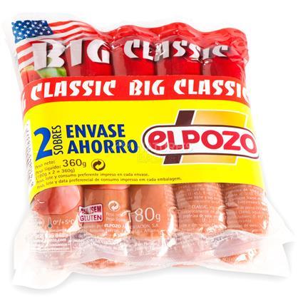 Pork Frankfurt Big Sausages Pack 2 - EL Pozo