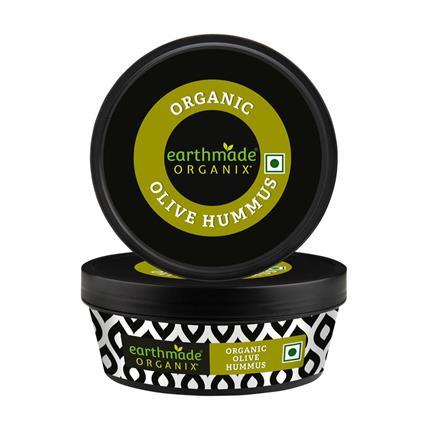 EARTHMADE ORGANIX OR OLIVE HUMMUS 200G