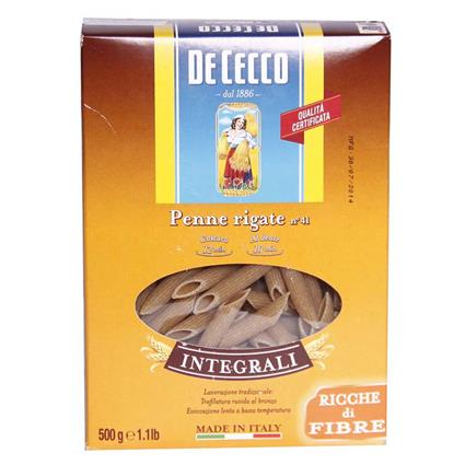 Penne Rigate Whole Wheat Pasta - De Cecco