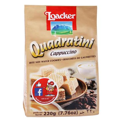 Quadratini Cappuccino Cream Wafer - Loacker