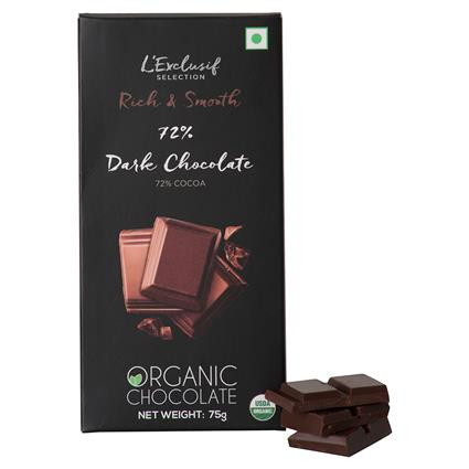 LE ORG CHO BAR 72PER DARK 75G