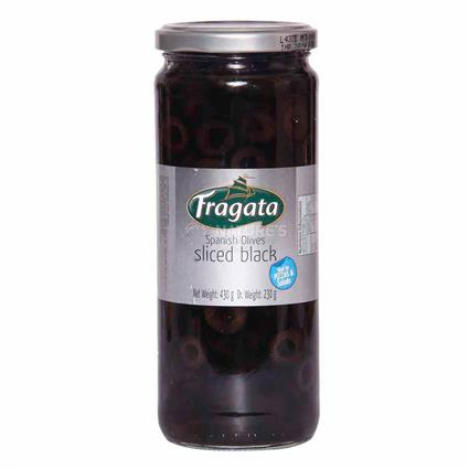 Sliced Black Spanish Olives Oil - Fragata