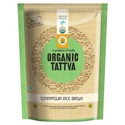 Sonamasuri Rice Brown Organic - Organic Tattva
