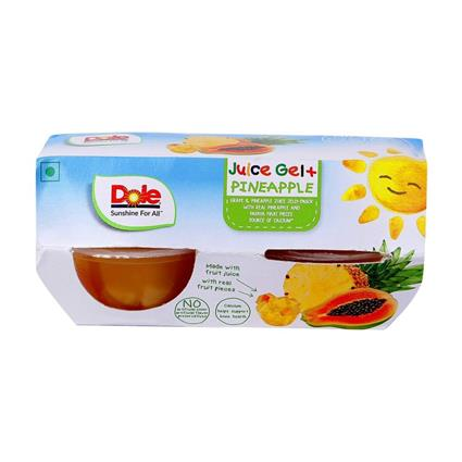 DOLE JUICE JELLY PINEAPPLE 372G 4PACK