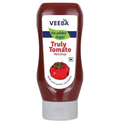 VEEBA NO ADDED SUGAR TOMATO KETCHUP335G