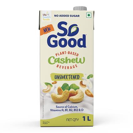 So Good&Nbsp;Cashew&Nbsp;Milk Unsweetened 1 Ltr