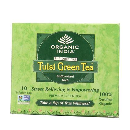 Tulsi Green Tea - 10 TB - Organic India