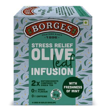 Borges Olive Leaf Infusion Mint Tea 10B