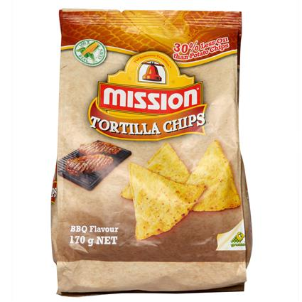 MISSION BBQ TORTILLA CHIPS 170G