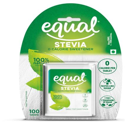 EQUAL NATURAL STEVIA SWEETNER 100S BOX