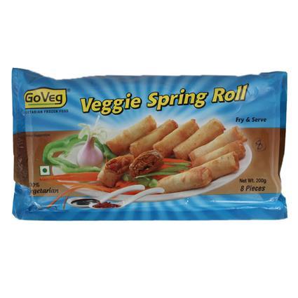Veggie Spring Roll  -  8Pcs - Goveg