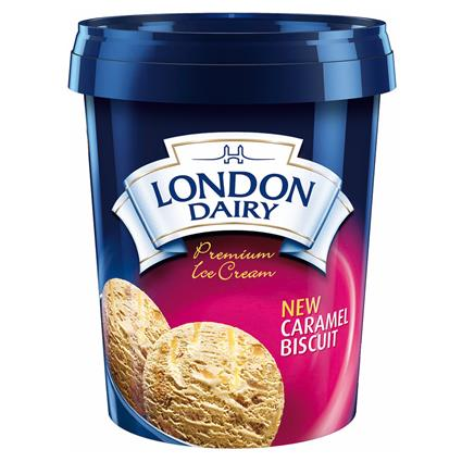 Caramel Biscuit Ice Cream - London Dairy