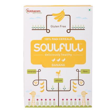 100% Ragi Banana Flavored Cereal - Soulfull