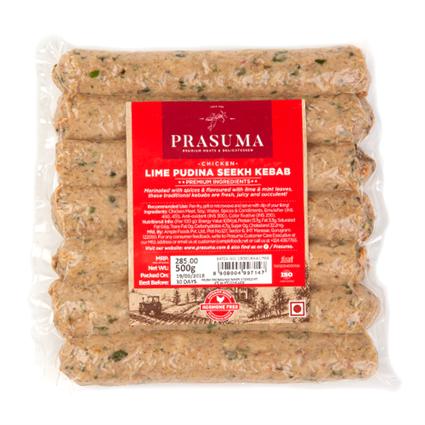 Chicken Lime Pudina Seekh Kebab 500Gms - PRASUMA
