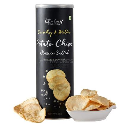 L EXCLUSIF RSTD POTATO CHIPS ORG SLT 75G
