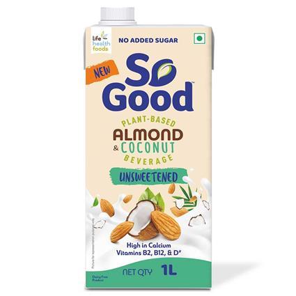 So Good Coconut Almond Milk Unsweetened 1000 Ml