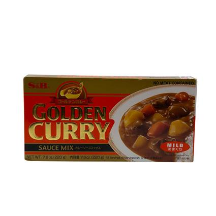S&B Golden Curry Sauce Mix Mild 220G
