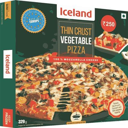 ICELAND VEGETABLE THIN PIZZA 329G N 354G