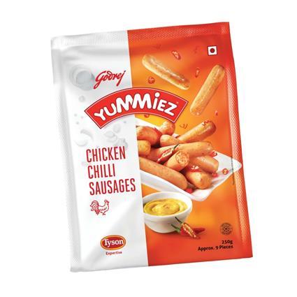YUMMIEZ CHCKN CHILI SAUSAGES 250G