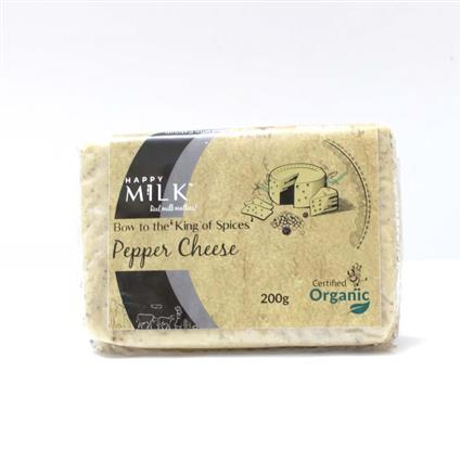 HAPPY MILK ORGANIC PEPPER CHEESE 200G