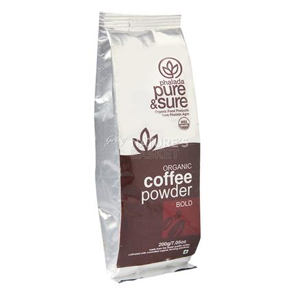 PURE&SURE ORG COFFEE BOLD 200G