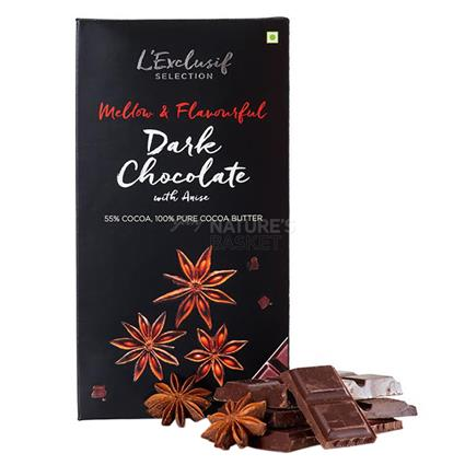 Dark Chocolate Bar With Powered Star Anise - L'exclusif