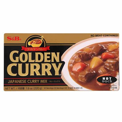 S&B Curry Paste Gldn Curry Hot 240G