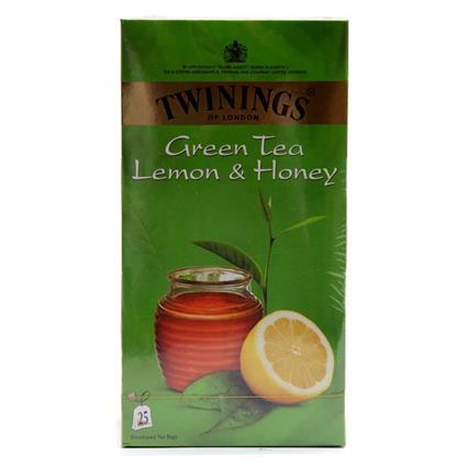 TWININGS GRN LMN&HNY 25S TEA BAG BOX