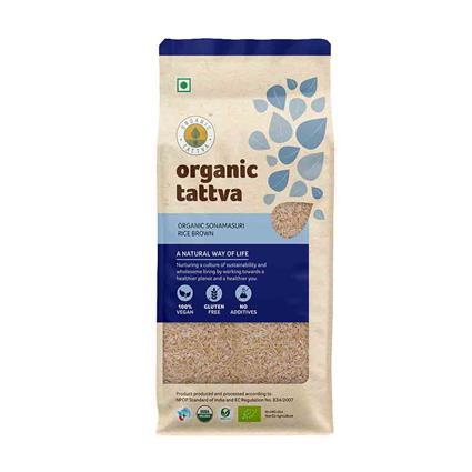 Sonamasuri Rice Brown Organic - Organic Tattva