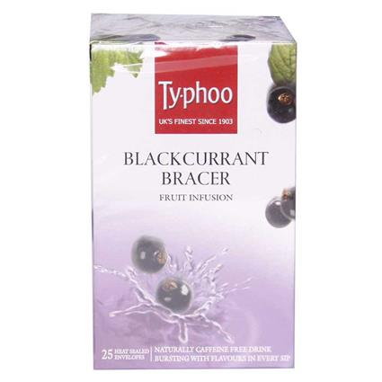 Black Currant Bracer Fruit Infusion Tea  -  25TB - Typhoo