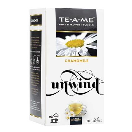 TE A ME CHAMOMILE 25S TEA BAG BOX