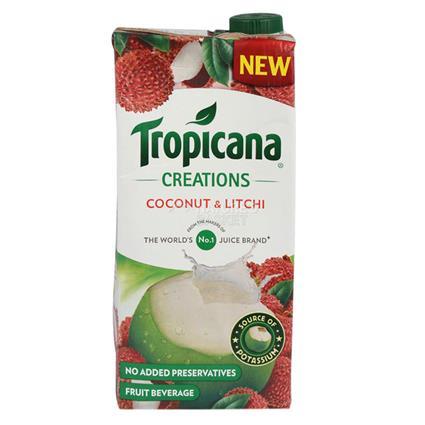 Coconut & Litchi Juice - Tropicana | naturesbasket co in