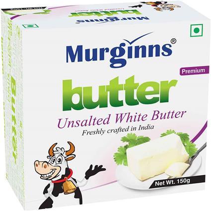 MURGINNS UNSALTED WHITE BUTTER 125G